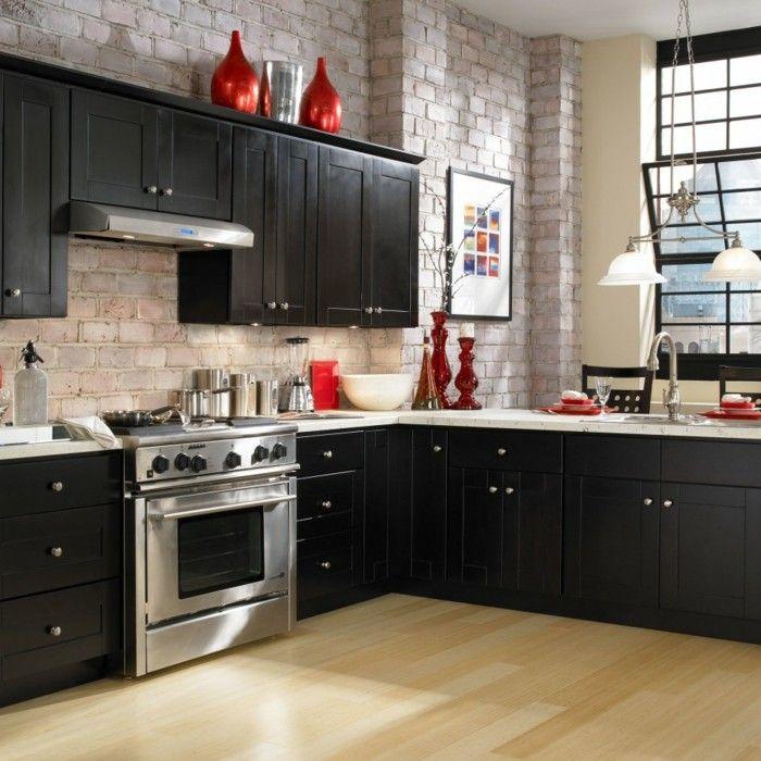 Die besten 25+ Schwarze Küchenschränke Ideen auf Pinterest - matt schwarze kchen