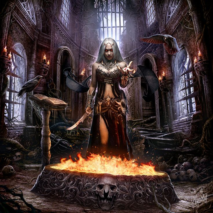 """The Witch Temple"" cover art for Graveshadow, American symphonic/ gothic metal band."