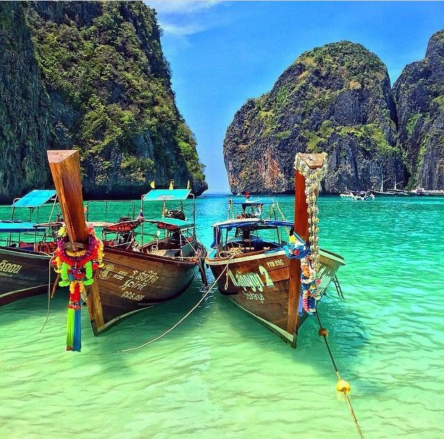 Phi Phi Island, Thailand  Whether it's adventure or sunbathing, it's got to be #MayaBay Koh #PhiPhi, Thailand. P.S. Seize the moment! http://phi-phi.com