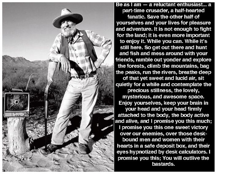 the life and work of edward abbey Wrenched: edward abbey and the monkey wrench gang on the big screen   desert solitaire—essays inspired by his work as a ranger in arches  she brings  abbey and the environmental movement he inspired to life by.