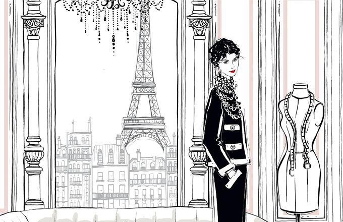 Ilustrovaný svět podle módní ikony Coco