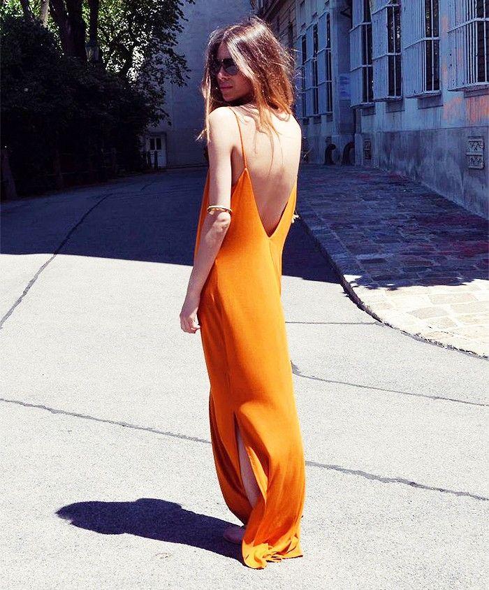 Orange maxi dress pinterest