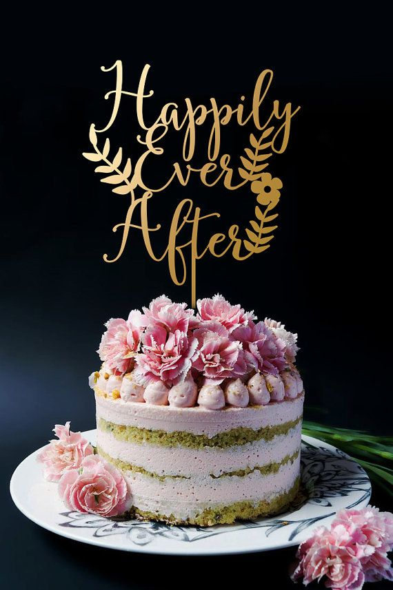 Happily Ever After Cake Topper Wedding Cake by SuntopDesigns