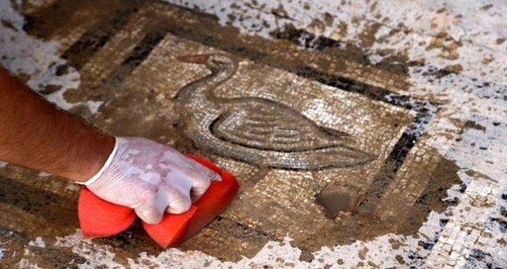 A görög mitológia-ábrázoló mozaikok megtalálhatók Perga-ban, Törökországban