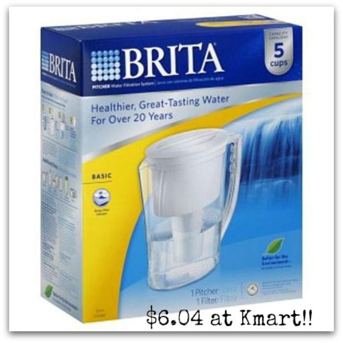 Kmart - Brita Slim Water Filtration Pitcher only $6.04! - http://dealmama.com/2017/04/kmart-brita-slim-water-filtration-pitcher-6-04/