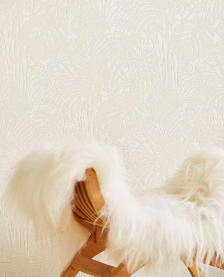 Reflect wallpaper - From Eijffinger.  White Palm Leaf wallpaper