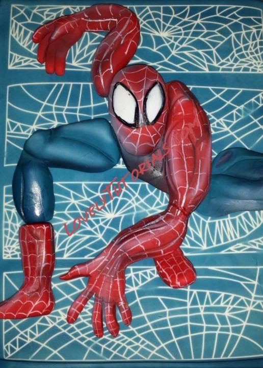 "МК торт ""Человек-паук"" -Spider-Man cake tutorial - Мастер-классы по украшению тортов Cake Decorating Tutorials (How To's) Tortas Paso a Paso"