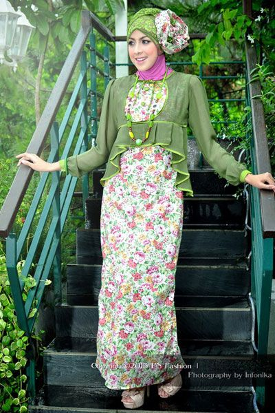 #Gamis two pieces with floral type