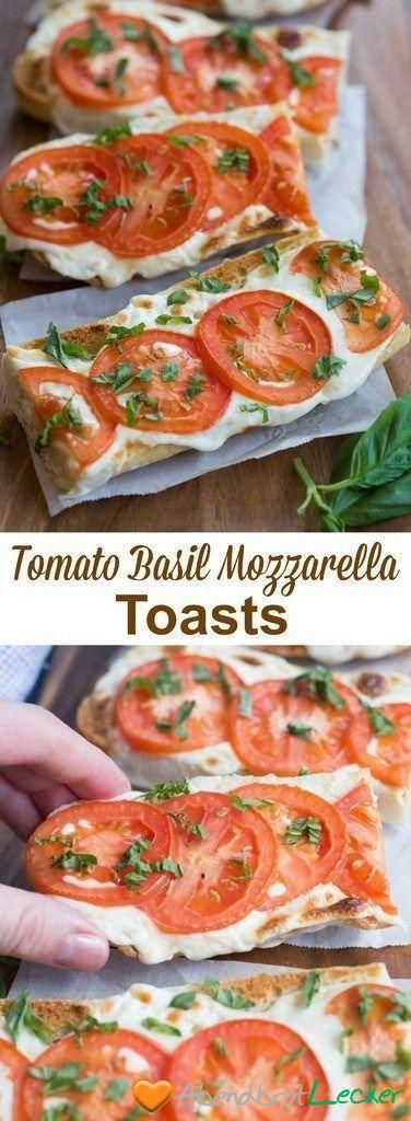 TomatenBasilikumMozzarellaToast #abendessen #vegetarisch