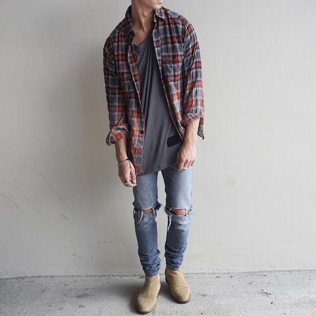 WasGeeeht!!! Ein Mode Blog für Männer: Herrenmode und Lifestyle: Outfit-Inspiration: offenes kariertes Hemd – Kate Kingsley