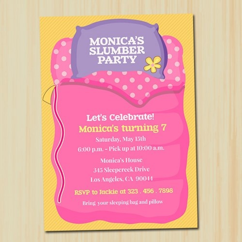 56 best images about Invitaciones Pijamada – Cute Slumber Party Invitations