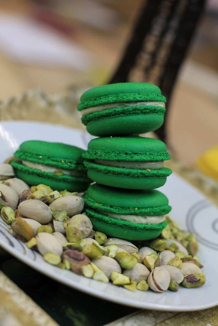Pistachio Macarons from Amelie's French Bakery in Charlotte, NC. Haviv ...