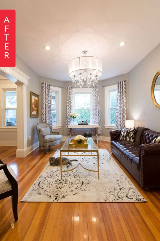 This Apartment Therapy Makeover In Boston Uses A Beautiful Crystorama Hampton 8 Light Chandelier