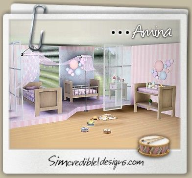 Designs 3 | TOP Quality Content For Sims Games Amina Kids Room And