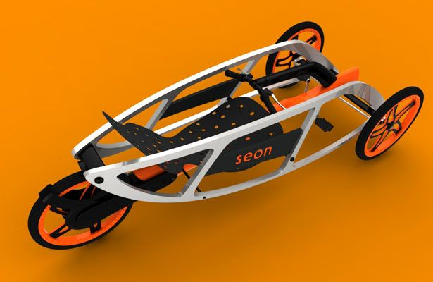 Design SEON Trike Concept (never realized my knowledge for design.. Can guesstimate this is a pretty good build for downhill speed, frame dangerous for any limbs outside during crash, be prepared for breaking stuff.-ki)