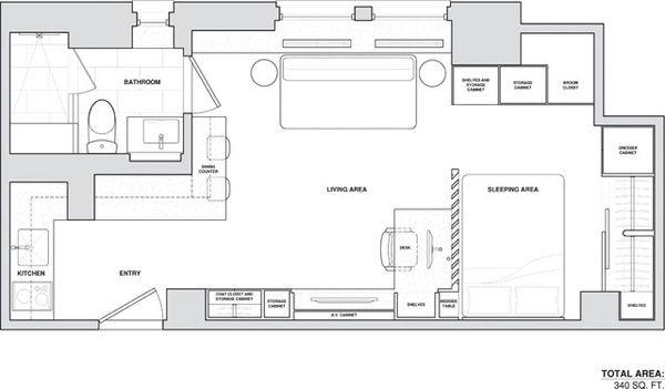 Best 25 micro apartment ideas on pinterest micro house - Petit appartement studio allen killcoyne ...