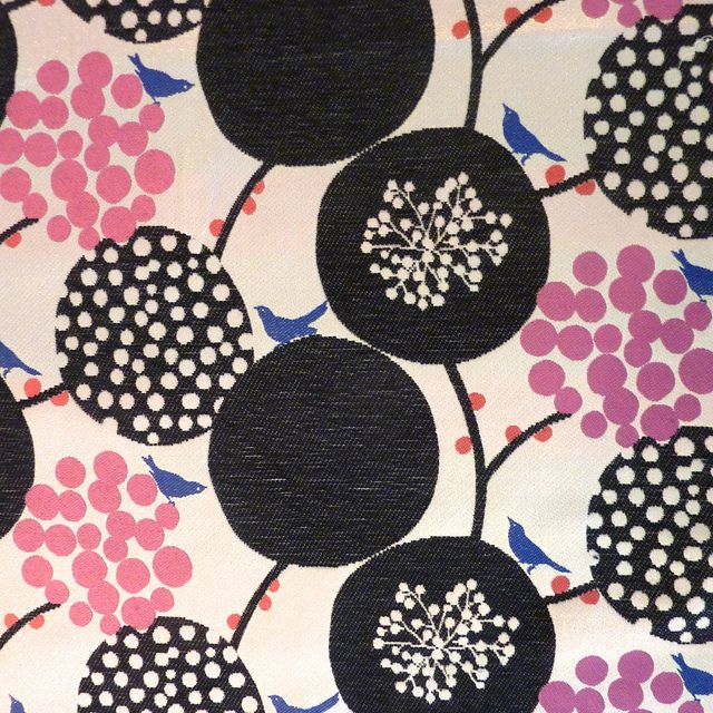 Echino Big Blossoms and Birds Black/Natural Jacquard by Stitch Lab in Austin, Texas, via Flickr