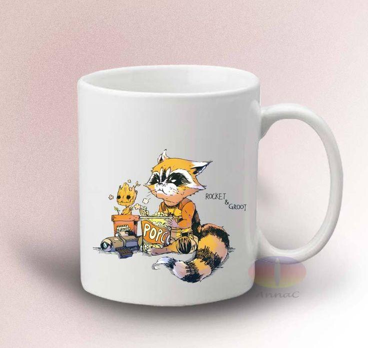 Groot and Rocket Raccoon Mug Guardian Galaxy 11oz Ceramic Mug