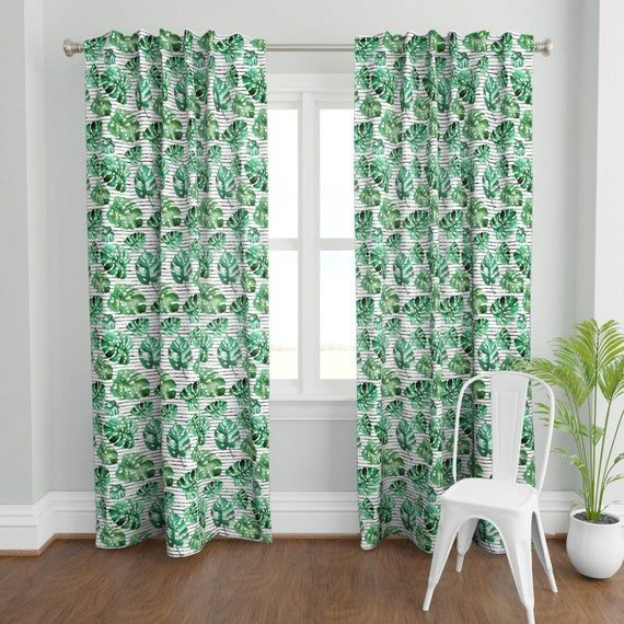 Tropical Curtain Panel 14 Kingman Drive By Shopcabin