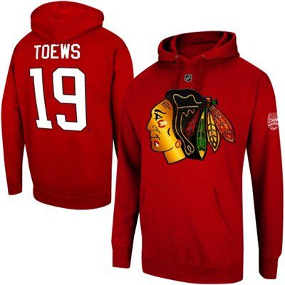 Reebok Jonathan Toews Chicago Blackhawks 2014 Stadium Series Name and Number Hoodie - Red