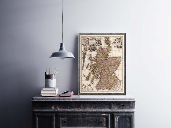 1680 Scotland Old Map Poster| Antique Scotland Map Decor| Britain Old Map Print| Antique European Continent Maps| Wall Decor Map|HA017