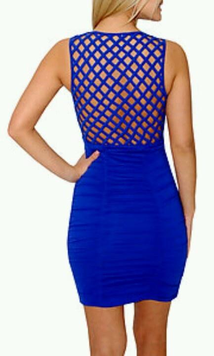 vestido azul!