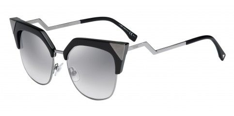Fendi Iridia FF0149/S KKL/IC Black Dark Ruthenium/Grey Silver Mirror