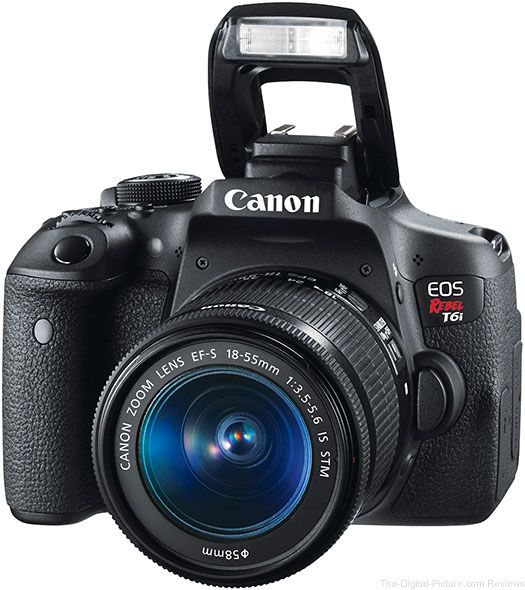 Canon EOS Rebel T6i / 750D with Flash Up