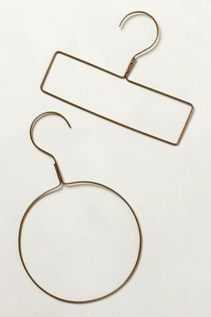 Scarf hanger from Anthropologie. Fog Linen Brass Hangers/Remodelista