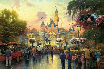 Disneyland 50th Anniversary - Thomas Kinkade - World-Wide-Art.com #Disney #Kinkade