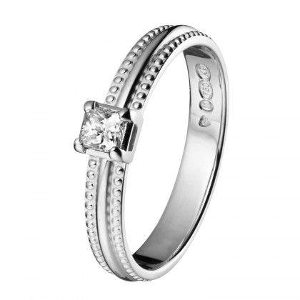 Kalevala Koru / Kalevala Jewelry / Vierekkäin-sormus 0,20ct / 14K valkokulta tai kulta / Design Saija Saarela