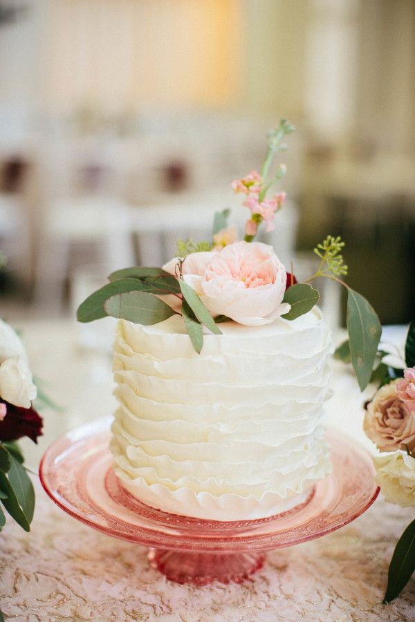 Pretty ruffled mini cake: http://www.stylemepretty.com/little-black-book-blog/2016/06/02/cakes-as-centerpieces-for-florida-spring-wedding/ | Photography: Jacqui Cole Photography - http://jacquicole.com/