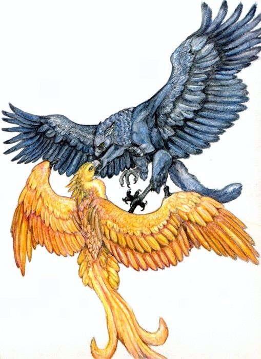 Gryphons - I can see this as a tattoo