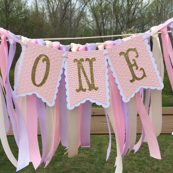 HIGH CHAIR ONE Birthday Party Banner One Year Old 1st First