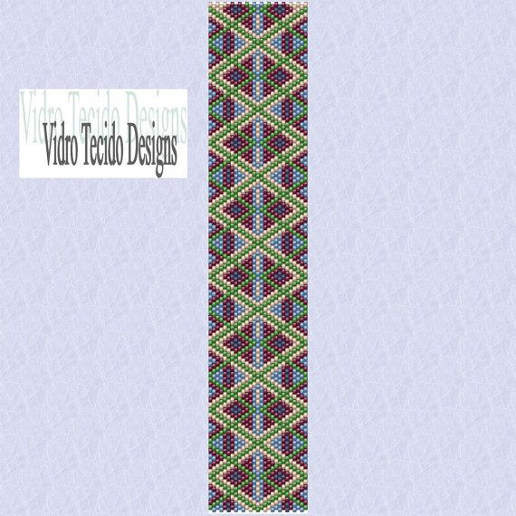 Mosaic 25 Peyote Pattern by vidrotecido on Etsy, $2.00: Beads Patterns, Peyote Patterns, Loom Patterns