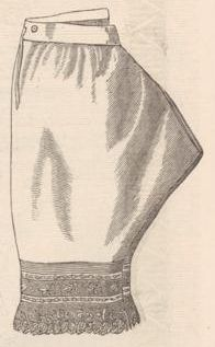 Nainsook drawers from Revue de la Mode 1873