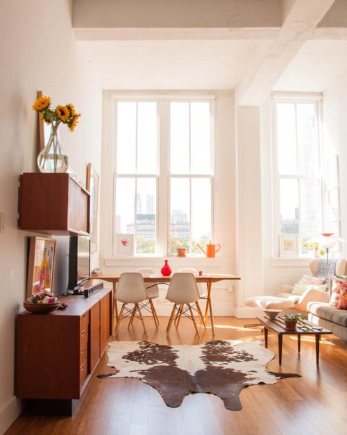 Claire Mazur's loft-like apartment in DUMBO Brooklyn