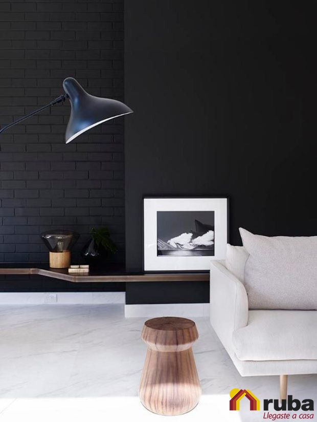Pierdele miedo al negro, no dudes en utilizarlo para decorar tu sala y observa que elegante se ve tu #HabitaciónRuba Si eres fanatico del negro te recomendamos http://inspirahogar.com/decoracion/salas/9-fotos-de-decoracion-de-salas-en-negro/