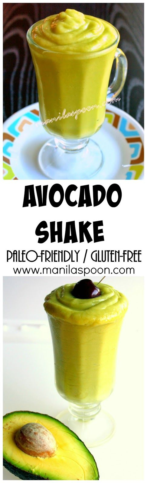 Velvety smooth, creamy and delicious is this healthy, gluten-free and paleo-friendly Avocado Smoothie or Shake. Make it the way you like it!