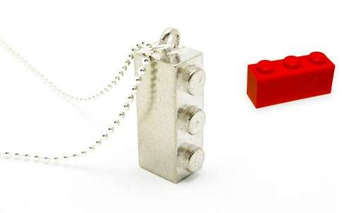 Blinged LEGO Necklaces - Recycled Toy Block Necklaces by Refashioned are Swarovski Crystal Chic (GALLERY)