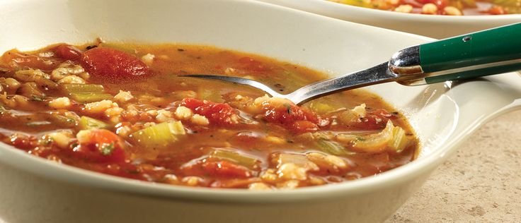 Roasted Tomato & Barley Soup. Roasting the tomatoes, garlic and onions makes this soup especially flavorful.  After the veggies are roasted, all you need is 40 minutes and you've got a robust, rustic-style soup.