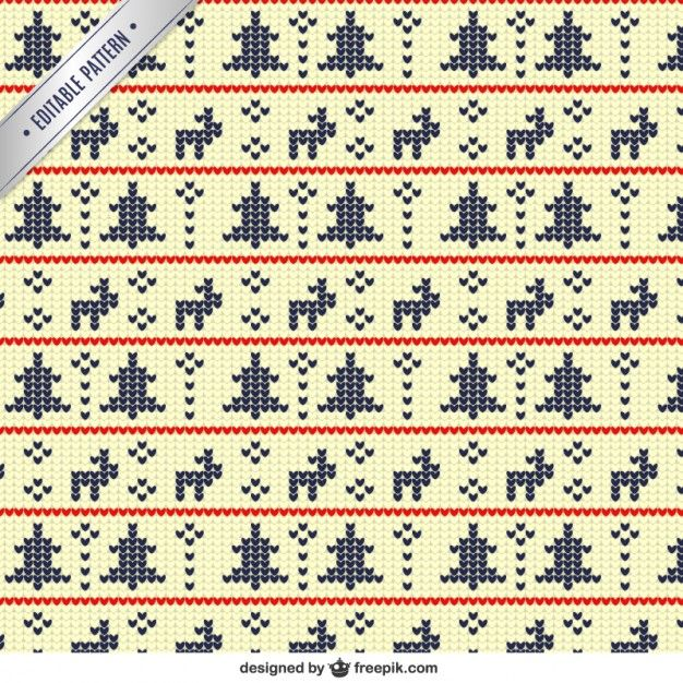 Free vector Geometric christmas pattern in cross stitch style #33455