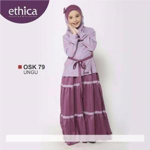 Baju Gamis Anak Ethica OSK 79 UNGU Size 12 - Ramadhan Sale
