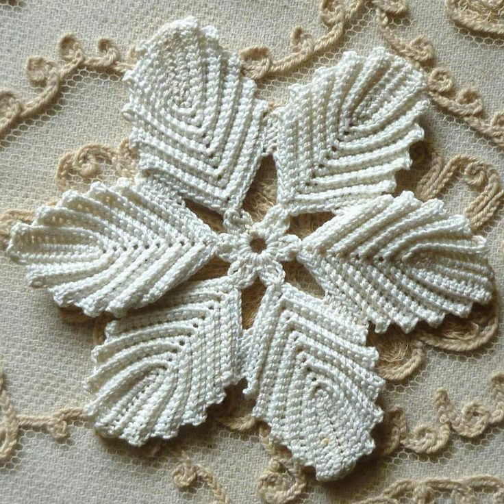 Antique Hand Made Lace Flowers Two Patterns