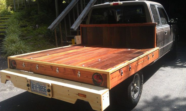 Wooden flatbed project flat bed truck and atv