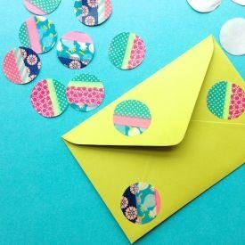 washi tape envelope dots
