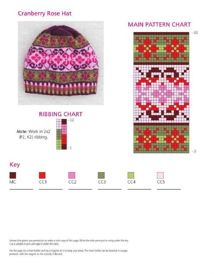 Fair Isle knitting - free patterns