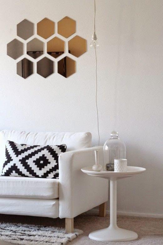 Espejos hexagonales o panal de abeja | Decorar tu casa es facilisimo.com