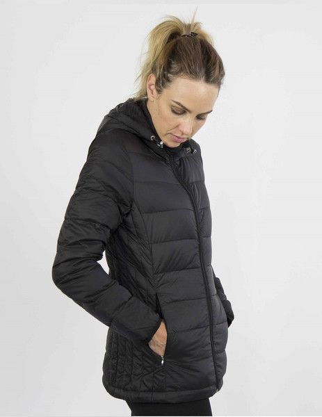 Moke Hooded Quilted Packable Jacket - Black – Sally Anne
