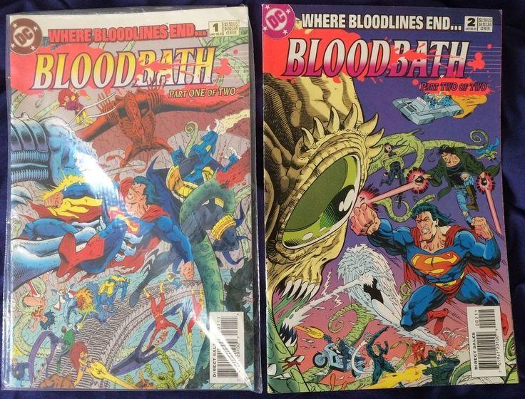 For Sale - Bloodbath 1 & 2 (1993) - FREE Post International Express - #DCComics Bloodpack Crossover Event - #Batman #Superman #JLA #TeenTitans #Titans #justiceleague